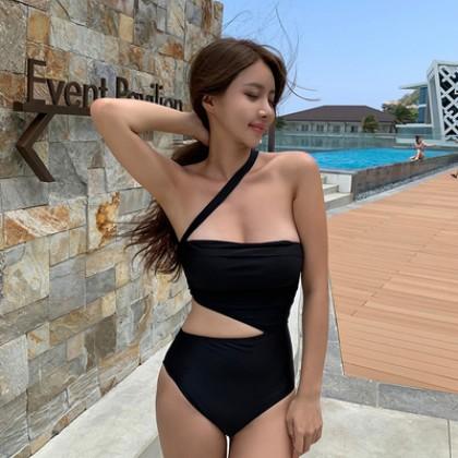 Women Clothing Sexy Irregular One-piece Summer Swimsuit