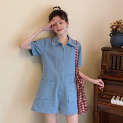 Women Clothing Casual High Waist Jumpsuit