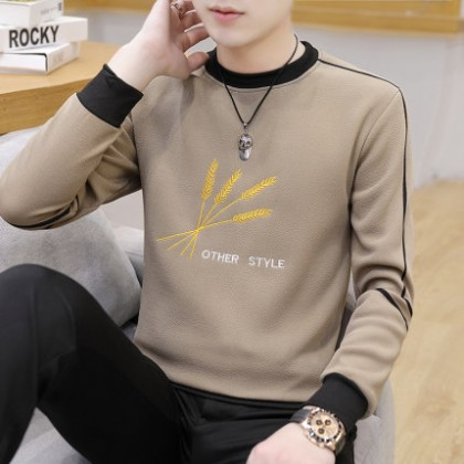 Men Clothing Long-sleeved T-shirt Casual Sweater