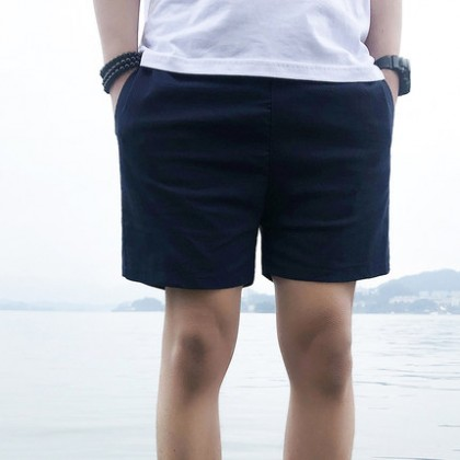 Men Clothing Loose Casual Five-point Pants