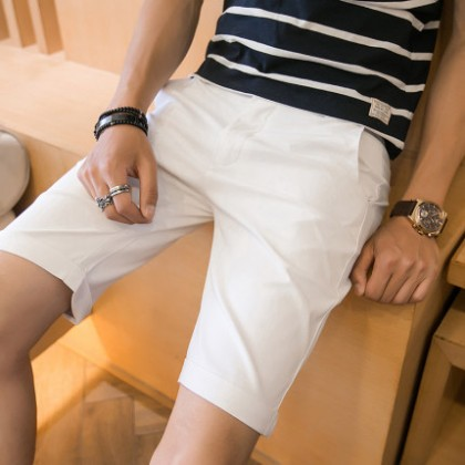 Men Clothing Summer Slim Casual Five-point Pants