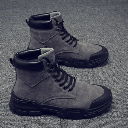 Men Wear-resistant British Style Lace-up Boots