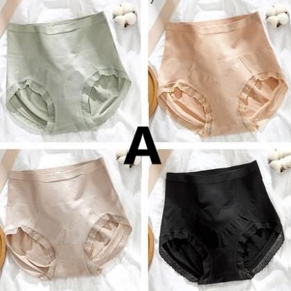Women Clothing High Waist Cotton Antibacterial Underware