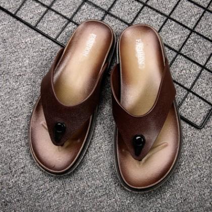 Men Summer Outdoor Non-slip Beach Flip-flop Slippers
