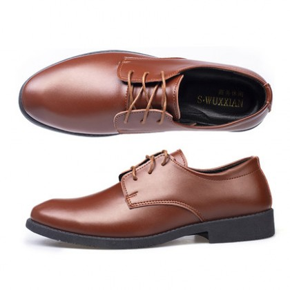 Men Summer Casual Formal Lace-up Leather Shoes