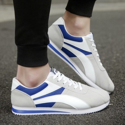 Men Summer Sports and Leisure Canvas Lace-up Shoes