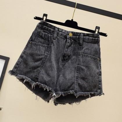Women Clothing New Summer High Waist Denim Shorts