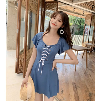 Women Clothing One-piece Belly Slim Skirt Swimsuit