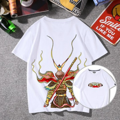 Men Clothing Plus Size Casual Short-sleeve Cotton Shirt