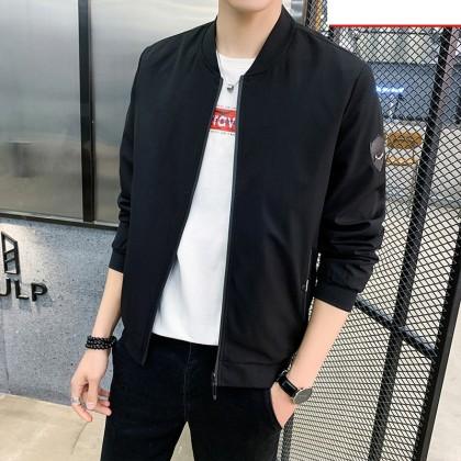 Men Clothing Plus Size Stand-up Collar Jacket Shirt