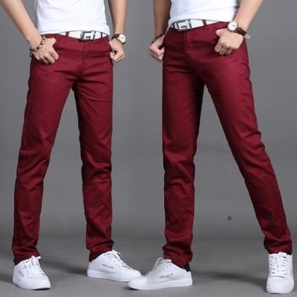 Men Clothing Summer Straight Slim Trousers
