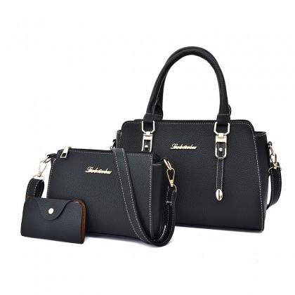 Women Three-piece Set Fashion  Patterned Shoulder Handbag