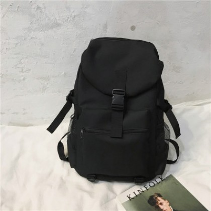 Men Large Capacity Computer Backpack Simple College Student Bag