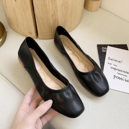 Women Shallow Mouth Soft Bottom Peas Shoes