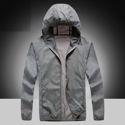 Men Clothing Long-sleeved Sun Protection Ultra-thin Breathable Jacket