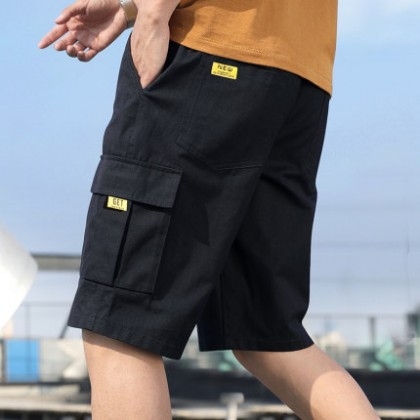 Men Clothing Five-point Beach Summer Loose Pants