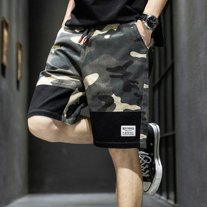 Men Clothing Five Point Pants Sports Beach Camouflage Shorts