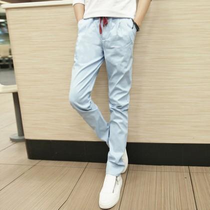 Men Casual Wist Elastic Harem Long Pants
