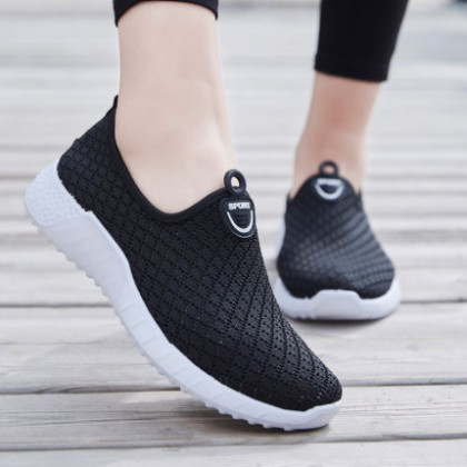 Women Hollow Mesh Breathable Lazy Sports Shoes