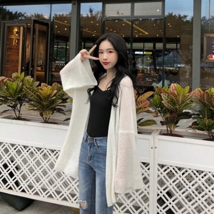 Women Clothing Knitted Cardigan Sunscreen Jacket