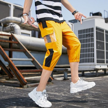 Men Clothing Seven-point Summer Loose Pants