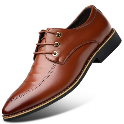 Men British Style Breathable Leather Shoes