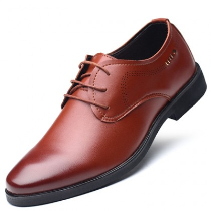 Men British Style Breathable Leather Business Shoes
