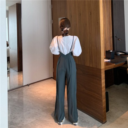 Women Clothing New Loose and Thin Wide-leg Pants Jumpsuit