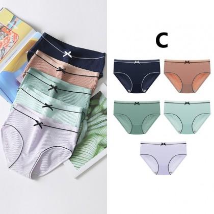 Women Clothing Cotton Antibacterial Summer Breathable Mid-waist Panties