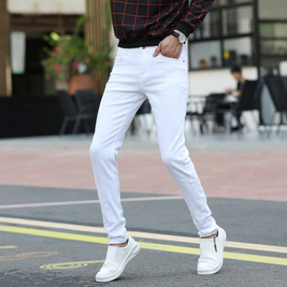 Men Clothing Summer Trendy Nine-point Jeans