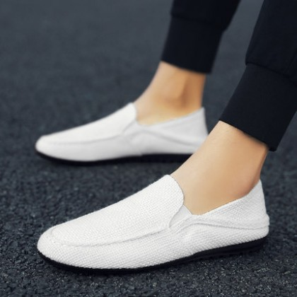 Men Casual Cloth Pedal Trendy Shoes