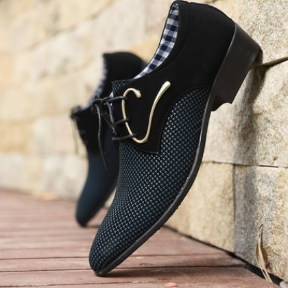 Men Pointed Toe Breathable Business Casual Shoes