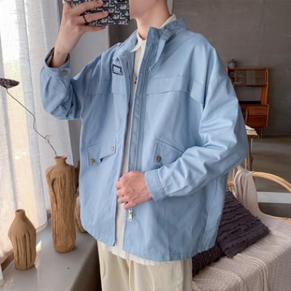 Men Clothing Retro Japanese Student Cotton Jacket