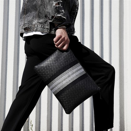 Men New Soft Leather Casual Korean Style Clutch Bag