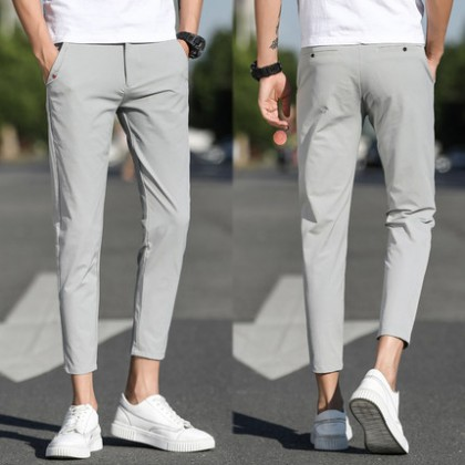 Men Clothing Summer Casual Straight Pants