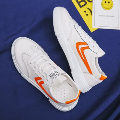 Men Casual Canvas Board Sports White Shoes