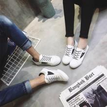 Men Couple Canvas Stripes Design Sneakers Shoes