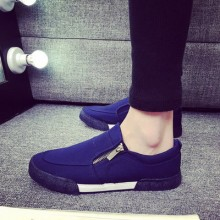 [READY STOCK] Men Canvas Zipped Design Sneakers Shoes Loafers
