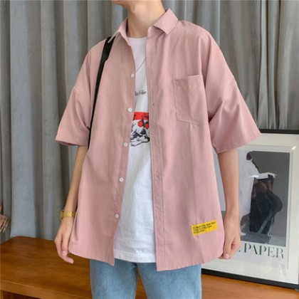 Men Clothing Casual Short-sleeved Five-point Sleeve Jacket