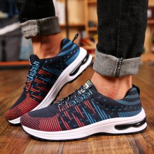 [READY STOCK] Men Mixed Color Design Breathable Sport Running Shoes