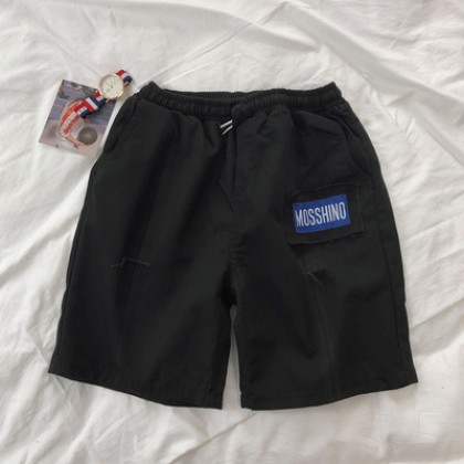 Men Clothing Loose Straight Outer Wear Five-point Pants