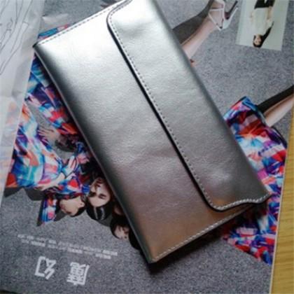 Women Ultra-thin Wallet Long Leather Clutch