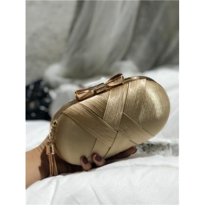 Women Small Round Diagonal Clutch Bag