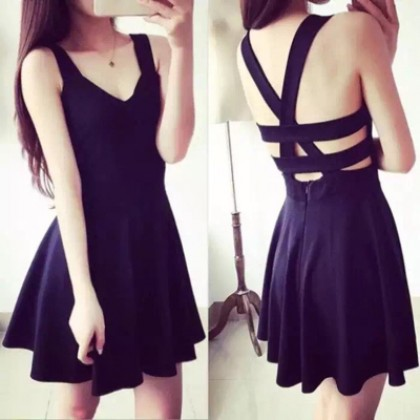 Women Sexy Cute A-Shape Slim Dress
