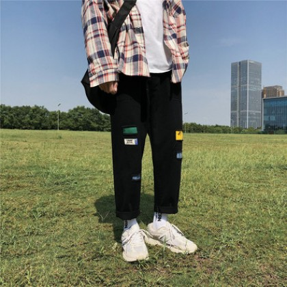 Men Clothing Summer Loose Straight Casual Pants