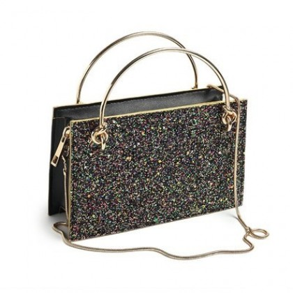 Women Sequins Portable Small Shoulder Chain Bag