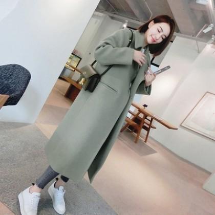 [READY STOCK / PRE-ORDER] Women Korean Long Thick Coat Jacket