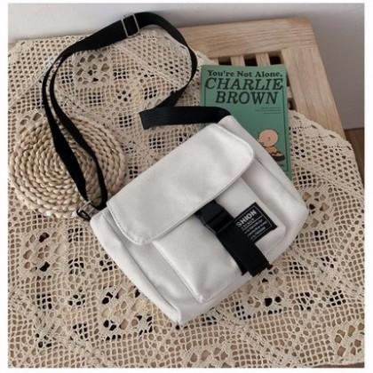 Men Canvas Retro Port Style Messenger Bag