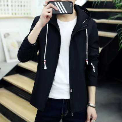 Men Basic MLGK Hooded Jacket
