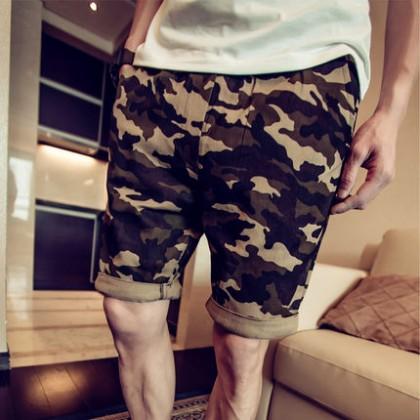 Men Camouflage Casual Shot Pants